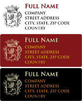Address Labels - Heraldry