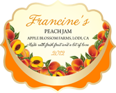 Jam Labels - Fruit Bowl Peach