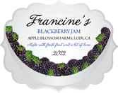 Jam Labels - Fruit Bowl Blackberry