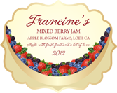 Jam Labels - Fruit Bowl Mixed Berry