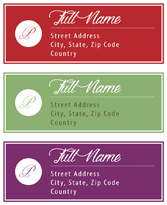Address Labels - Hallmark Solid