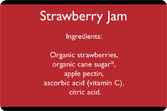 Ingredients - Small Jam Jar