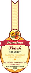 Jam Labels - Peach Jam