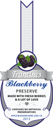 Jam Labels - Blackberry Jam