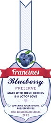 Jam Labels - Blueberry Jam
