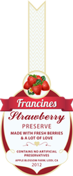 Jam Labels - Strawberry Jam